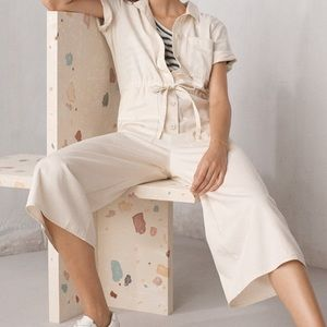 Madewell Other - Madewell Cream Utility Jumpsuit